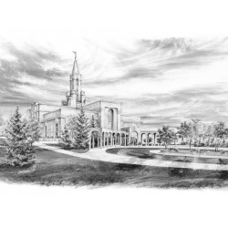Bountiful Temple Drawing - Beacon of Light