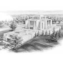 Cardston Alberta Temple Drawing