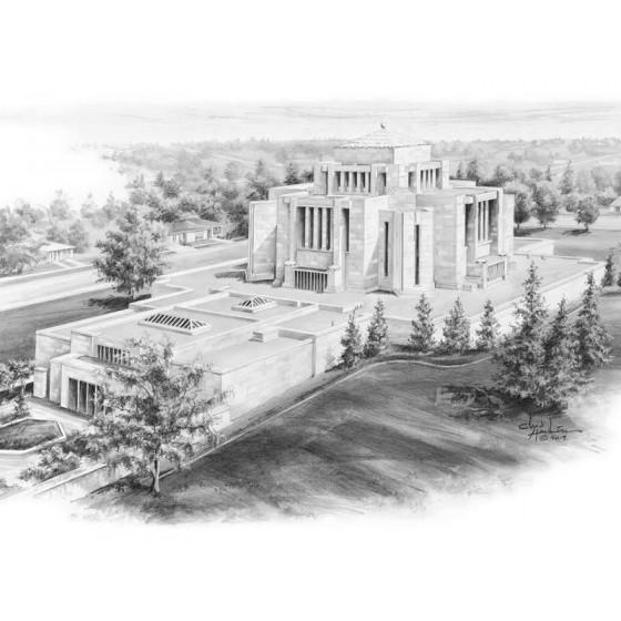 Cardston Alberta Temple Drawing