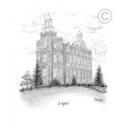 Logan Utah Temple Drawing