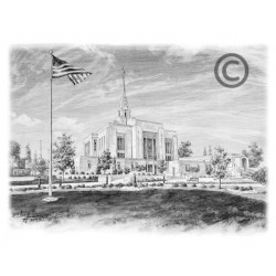Ogden Utah Renovated Temple Drawing