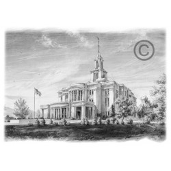 Payson Utah Temple Drawing