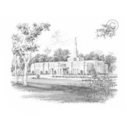 Baton Rouge Louisiana Temple Drawing
