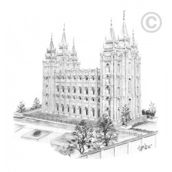 Salt Lake Temple Square Print