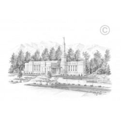 Anchorage  Alaska Temple Drawing