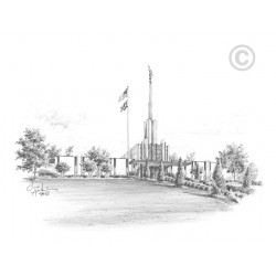 Atlanta Georgia Temple Drawing