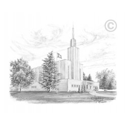 Bern Switzerland Temple Drawing