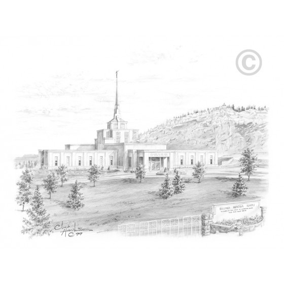 Billings Montana Temple Drawing