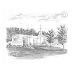 Birmingham Alabama Temple Drawing