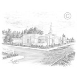 Bismarck North Dakota Temple Drawing