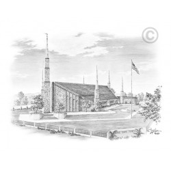 Boise Idaho Temple Drawing