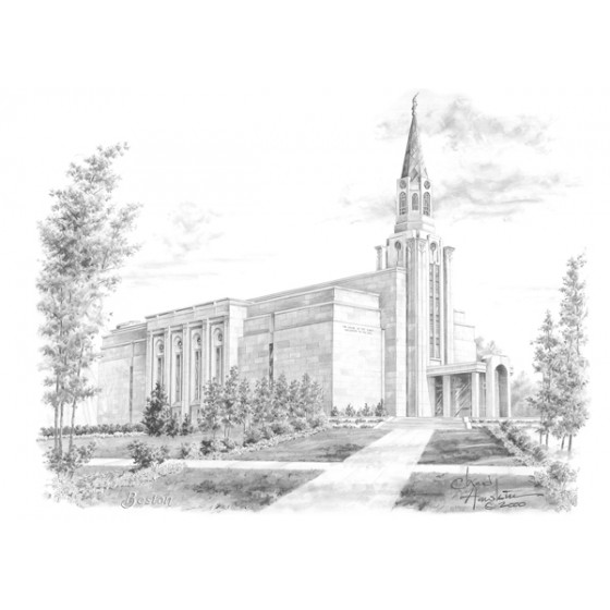 Boston Massachusetts Temple Drawing