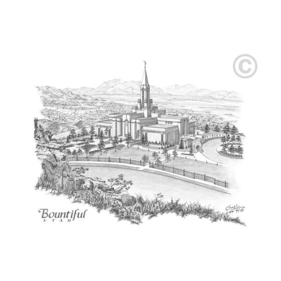Bountiful Utah Temple Drawing