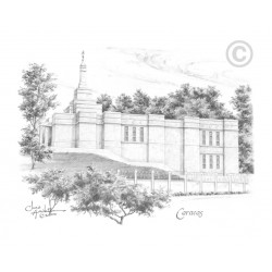 Caracas Venezuela Temple Drawing