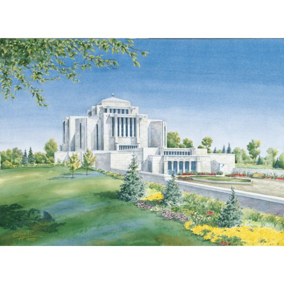 Cardston Alberta Temple Painting