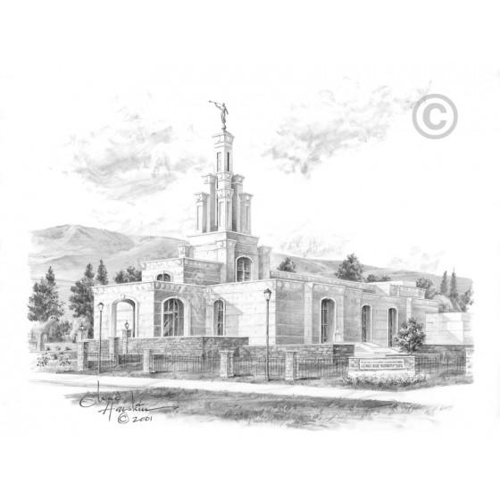 Columbia River Washington Temple Drawing