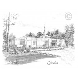 Columbia South Carolina Temple Drawing