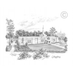 Columbus Ohio Temple Drawing