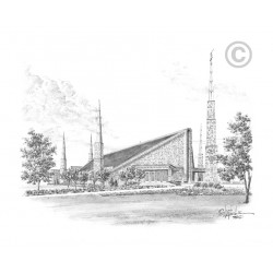 Dallas Texas Temple Drawing