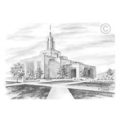 Draper Utah Temple Drawing