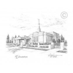 Edmonton Alberta Temple Drawing
