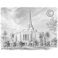 Gilbert Arizona Temple Drawing