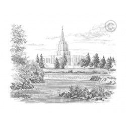 Idaho Falls Idaho Temple Drawing