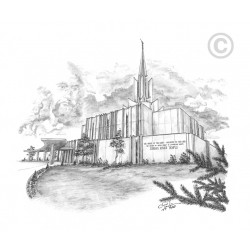 Jordan River Utah Temple Drawing