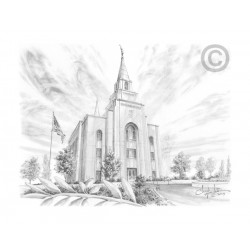 Kansas City Missouri Temple Drawing
