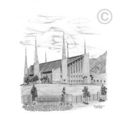 Las Vegas Nevada Temple Drawing