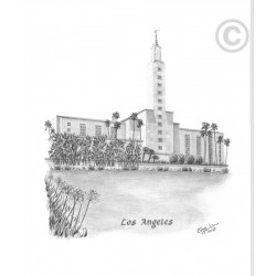 Los Angeles California Temple Drawing