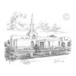 Lubbock Texas Temple Drawing