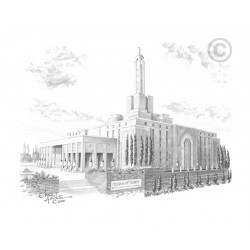 Madrid Spain Temple Drawing