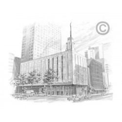 Manhattan New York Temple Drawing