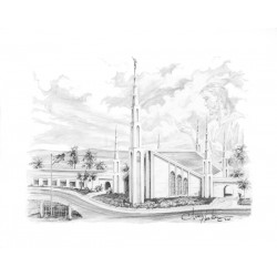 Manila Philippines Temple Drawing