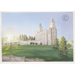 Manti Utah Temple Painting (Morning Breaks)