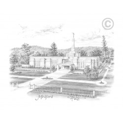 Medford Oregon Temple Drawing