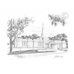 Melbourne Australia Temple Drawing