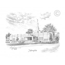 Memphis Tennessee Temple Drawing