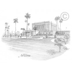Mesa Arizona Temple Drawing