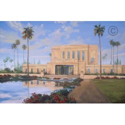 Mesa Temple Reflection Painting