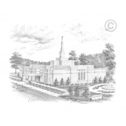 Nashville Tennessee Temple Drawing