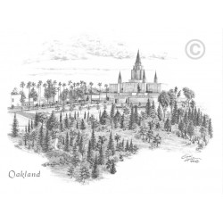 Oakland California Temple Drawing