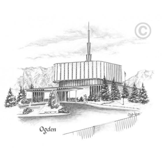 Ogden Utah Temple (Old Temple) Drawing