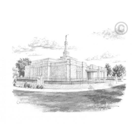 Oklahoma City Oklahoma Temple Drawing
