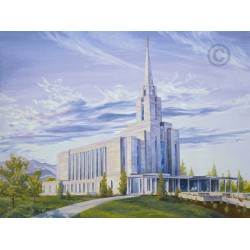 Oquirrh Mountain Utah Temple Painting