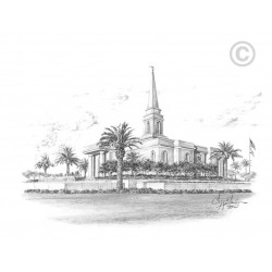 Orlando Florida Temple Drawing