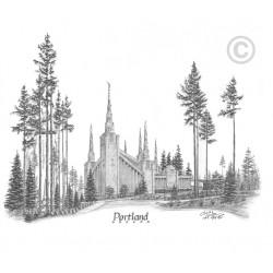 Portland Oregon Temple Drawing