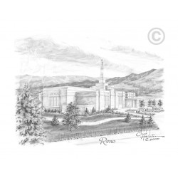 Reno Nevada Temple Drawing