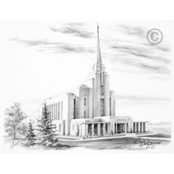 Rexburg Idaho Temple Drawing